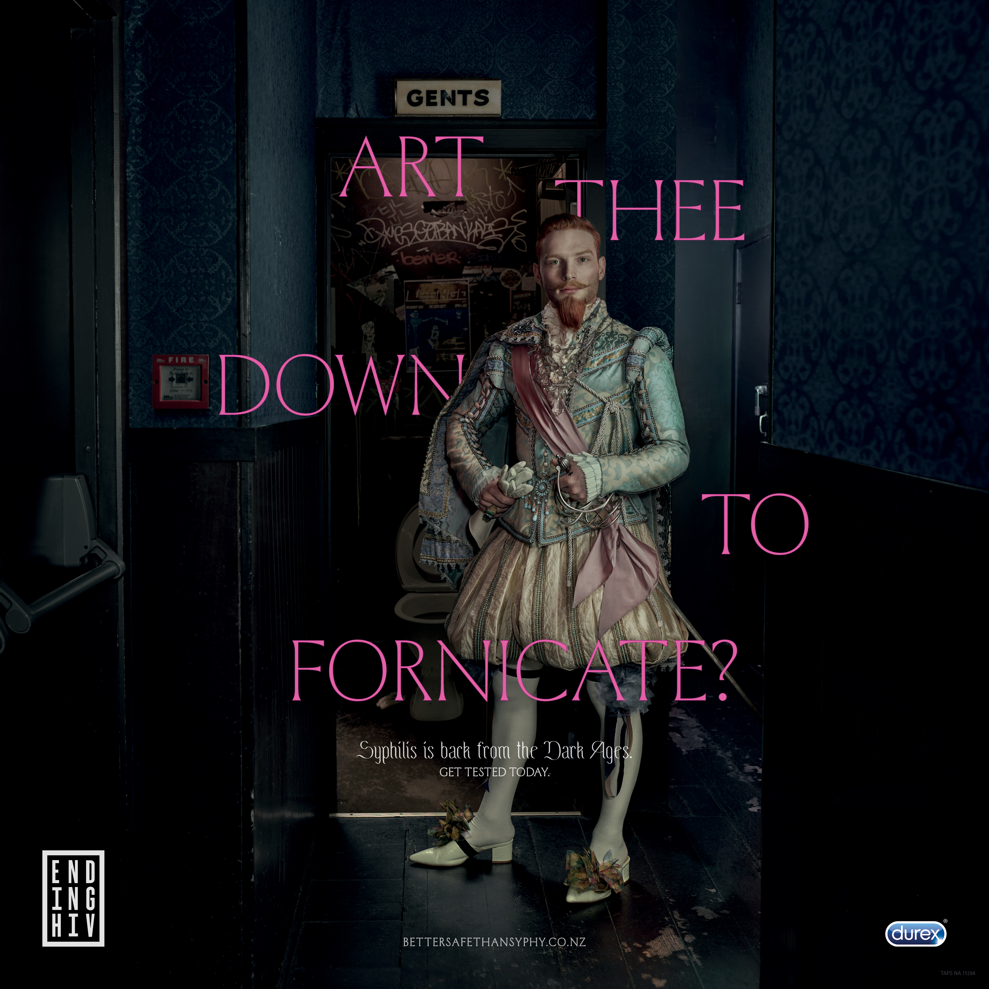"""NZ Aids Foundation and Durex ask """"Art thee down to fornicate?"""" in latest campaign via FCB NZ"""