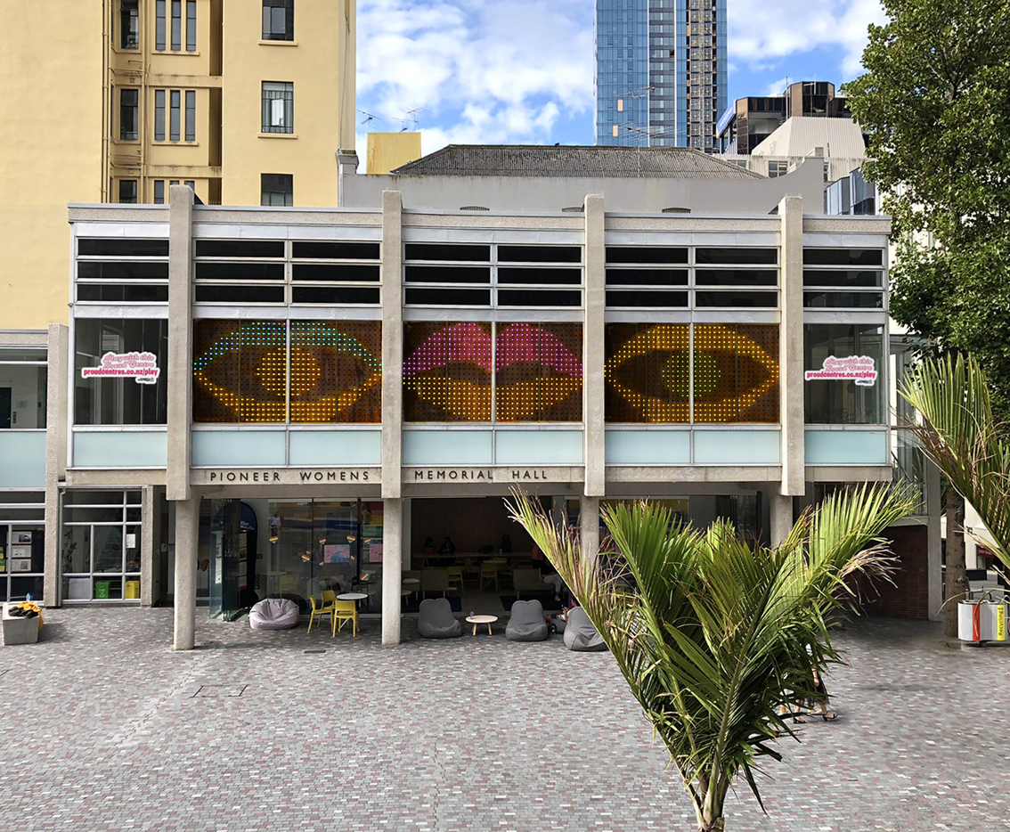 Auckland Council transforms the Ellen Melville Centre with new Pride installation via RUN