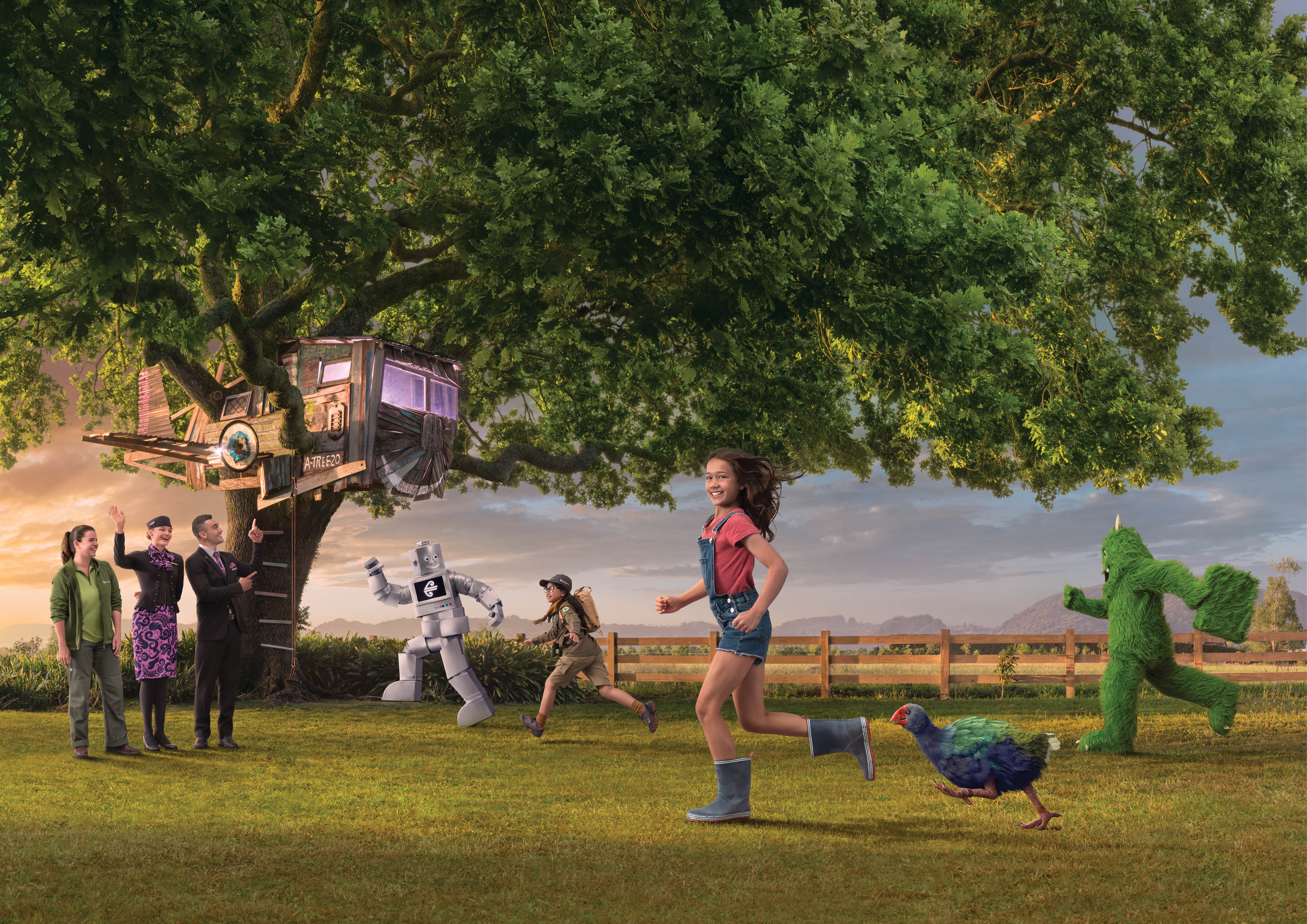 Air New Zealand takes native birds under its wing in new safety video via Pitchblack Partners