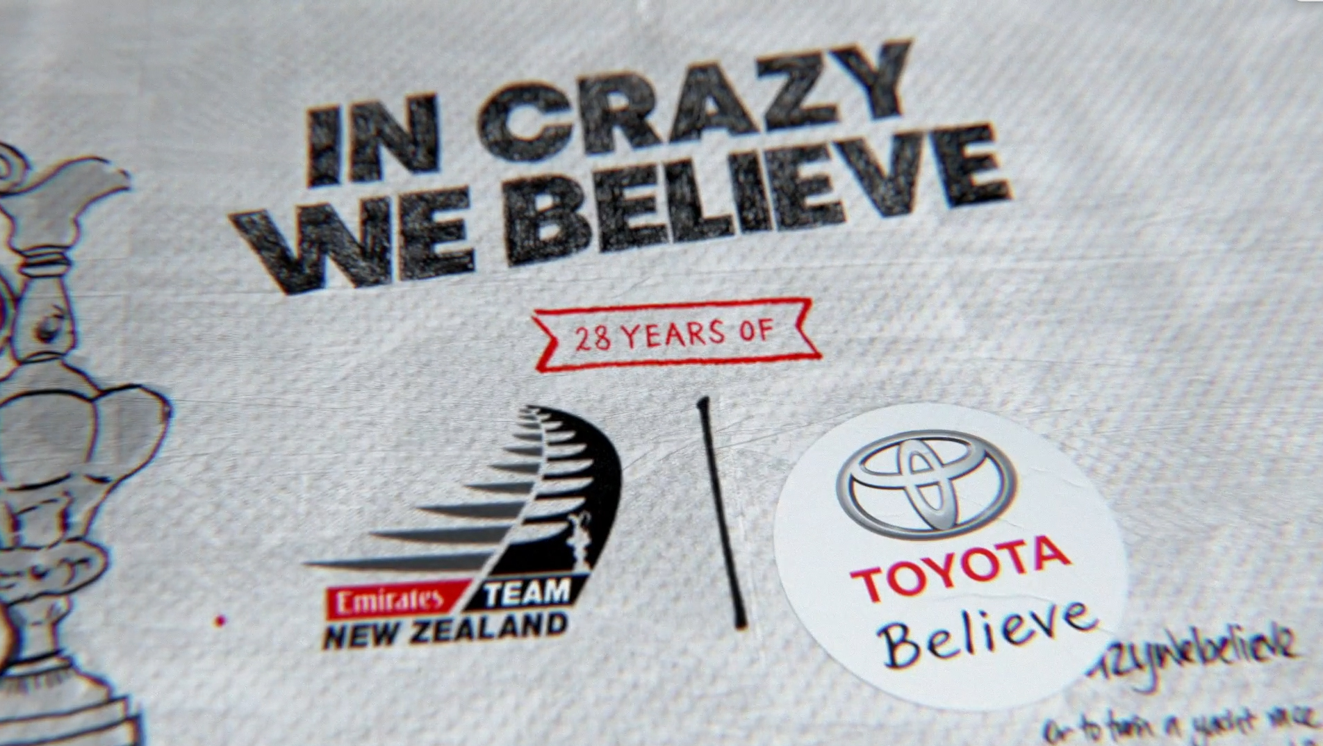 """In Crazy We Believe"": Toyota celebrates 28-year support of Emirates Team New Zealand in latest campaign via Saatchi & Saatchi"