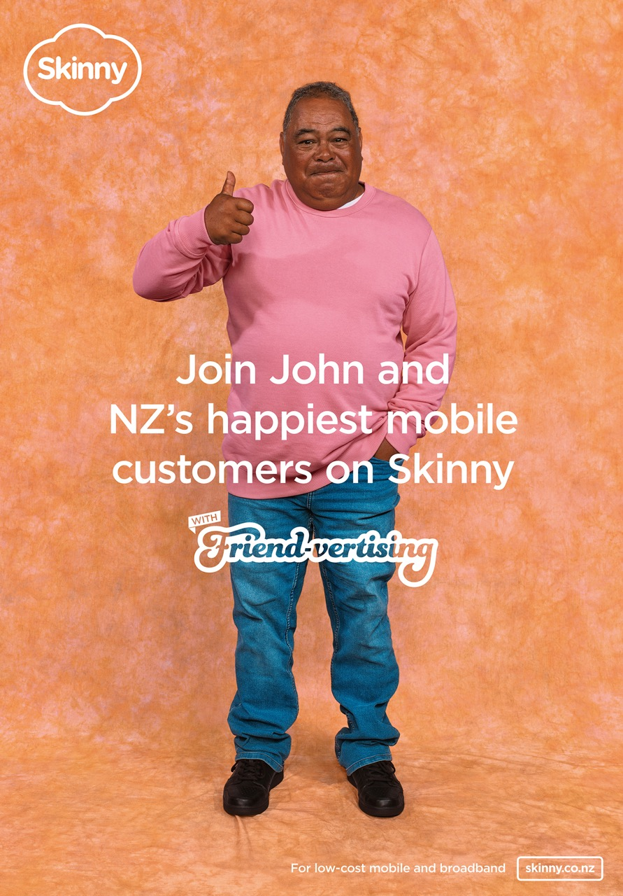 Skinny attempts to reach the whole country with an ad featuring someone they know in new Friend-vertising campaign via Colenso BBDO