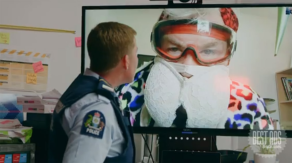 Best Ad of the Day: New Zealand Police Covid-19 Campaign 'Stay Home' by Wrestler New Zealand