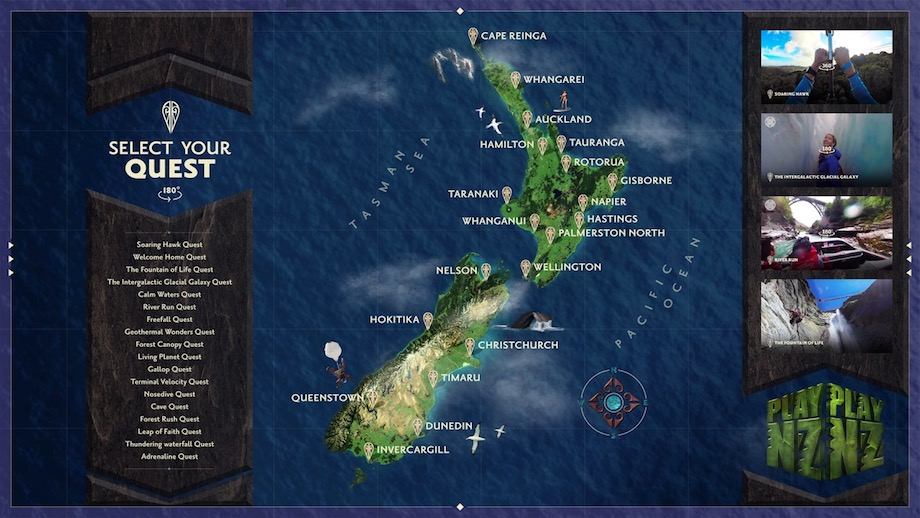 Tourism New Zealand invites gamers to PLAY NZ in world-style gaming experience via TBWA\Sydney