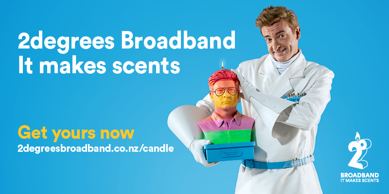 2degrees brings Rhys Darby back to prove it has the best Broadband in new campaign via TBWA\NZ