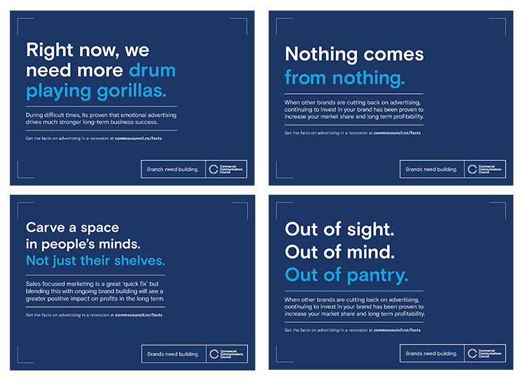 Comms Council campaign via DDB NZ encourages brands to keep building through advertising