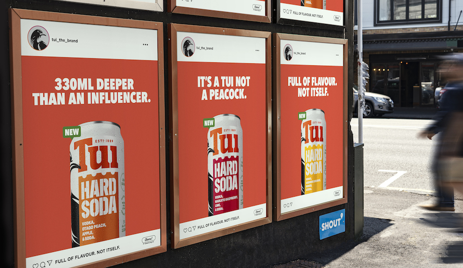 Tui's new Hard Soda wants Kiwis to be influenced by taste, not influencers in campaign via Colenso