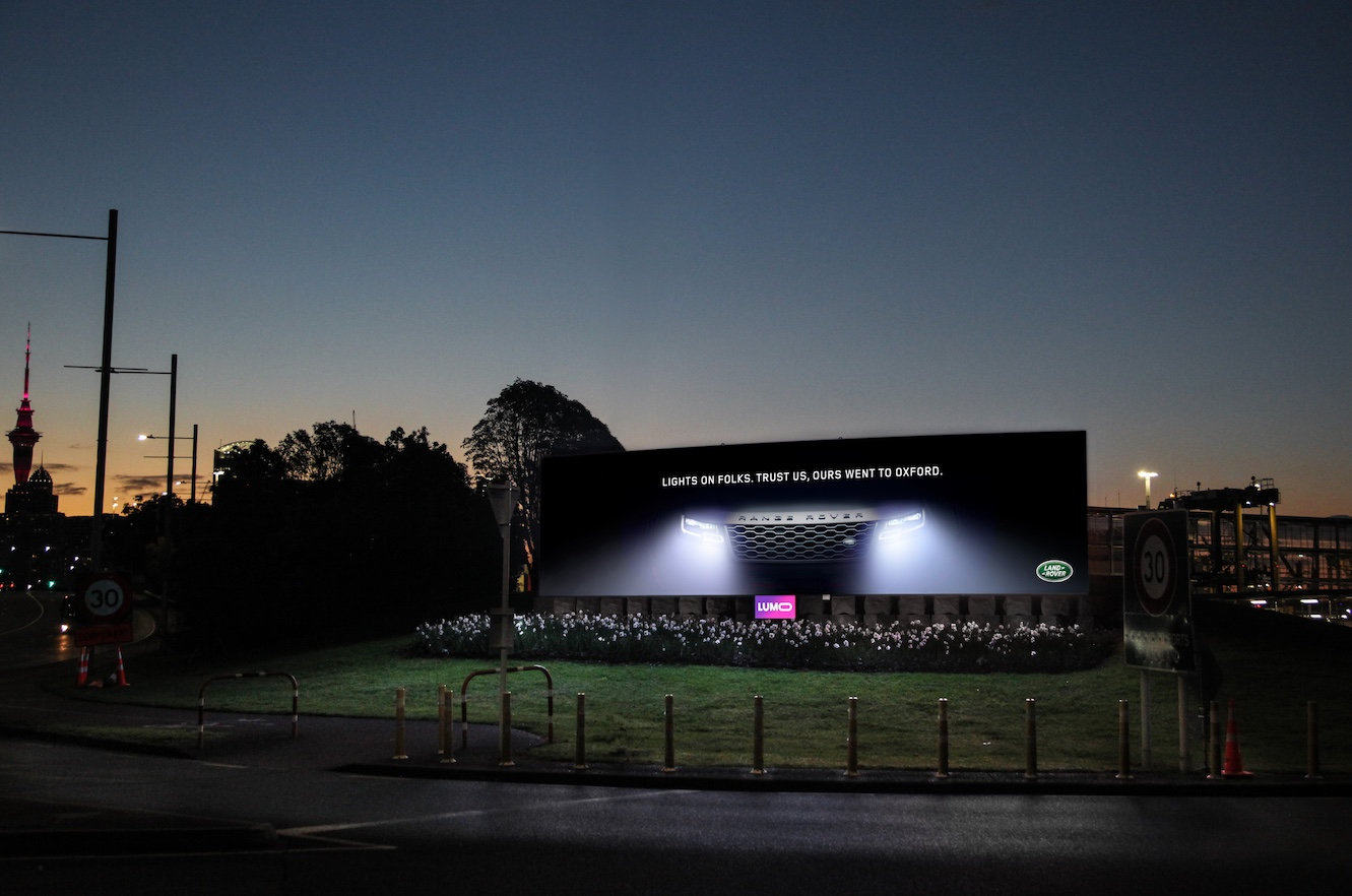 Land Rover turns the lights on in new digital billboard campaign via Hello and LUMO