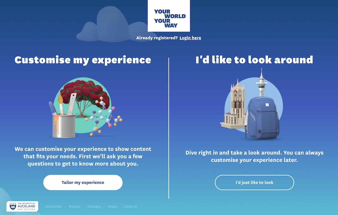 University of Auckland launches new Virtual Experience For Prospective Students via Method