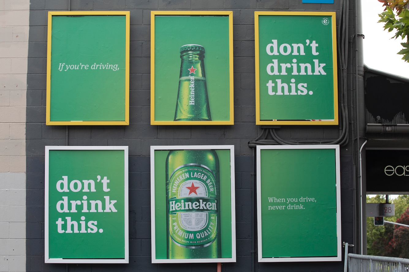Heineken asks Kiwis not to drink Heineken in anti drink-driving campaign via Saatchi & Saatchi