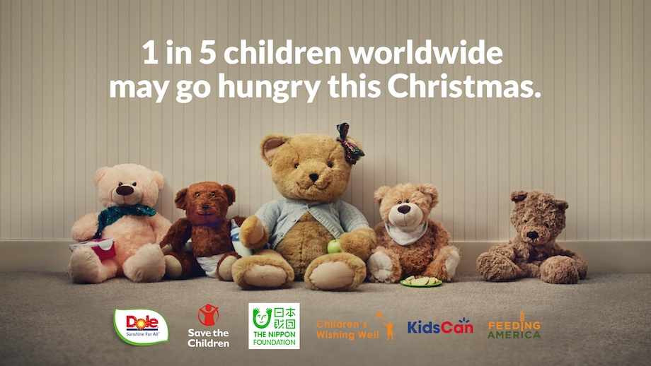 Dole Packaged Food invites people to join fight against childhood hunger with global #UnstuffedBears campaign via St. Luke's, London