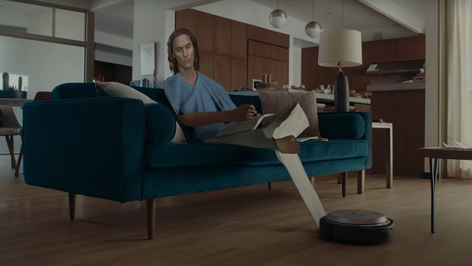 Matthew McConaughey is a 2D man in a 3D world in Doritos' new #FlatMatthew Super Bowl campaign via Goodby Silverstein & Partners