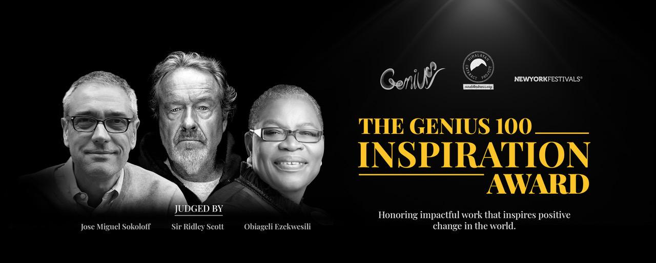 New York Festivals and Genius 100 Foundation launch global Genius 100 Inspiration Award