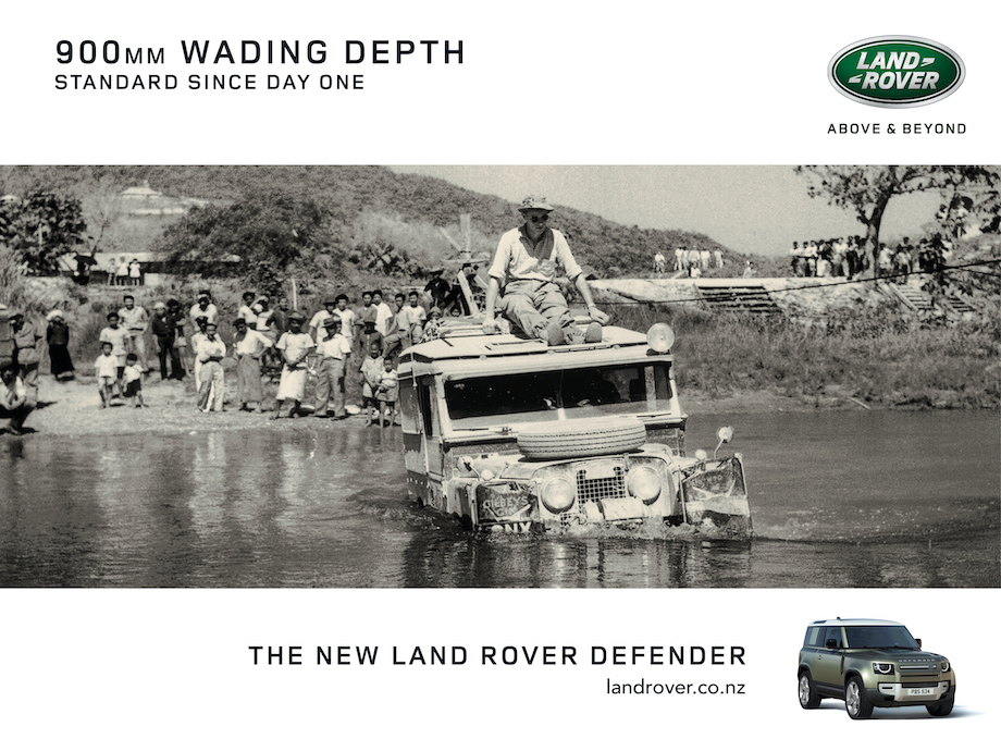 Land Rover NZ celebrates the legacy of the Land Rover Defender's capability in new work via True