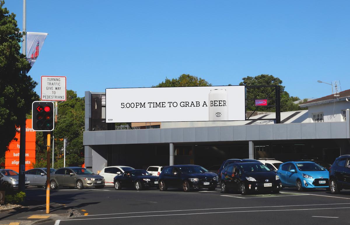 Garage Project owns beer o'clock in latest digital billboard campaign via Hello