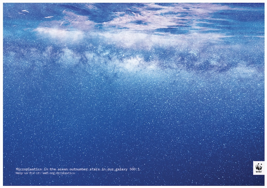 WWF puts microplastic pollution into perspective in new campaign via Colenso BBDO