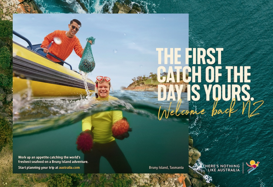 Tourism Australia welcomes New Zealanders back to its shores in first international campaign in over a year via M&C Saatchi, Sydney