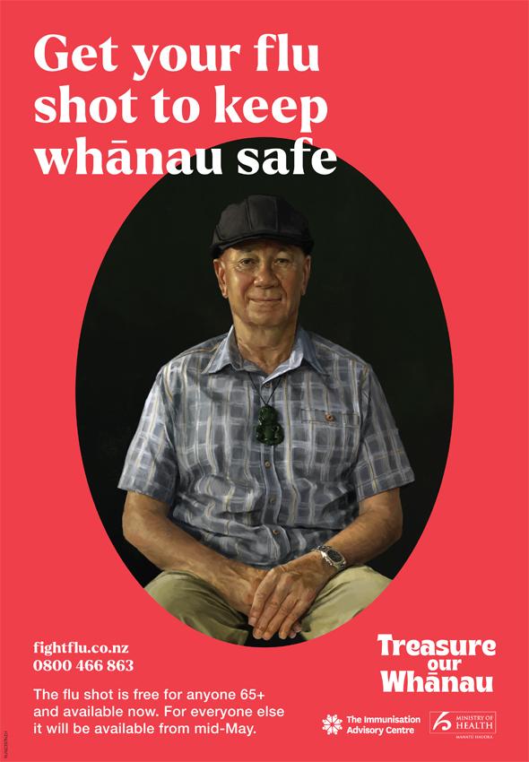 Immunisation Advisory Centre encourages Kiwis to 'Treasure our Whānau' in Flu work via RUN