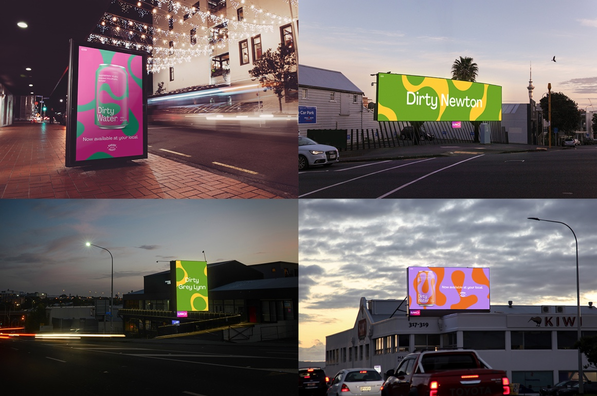 Garage Project dishes up the dirt in latest digital out-of-home campaign via Hello for 'Dirty Water'