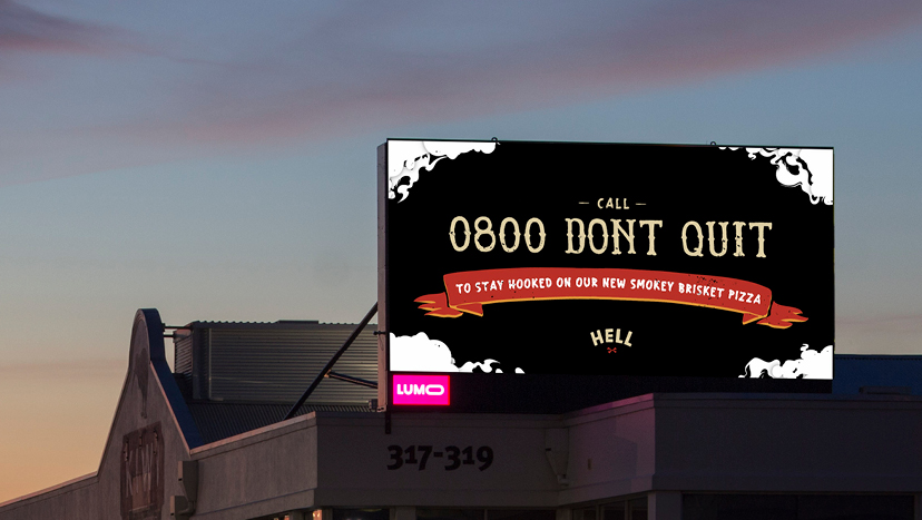 Stay Hooked: Hell Pizza launches the 0800 DONT QUIT line in new campaign via Yarn