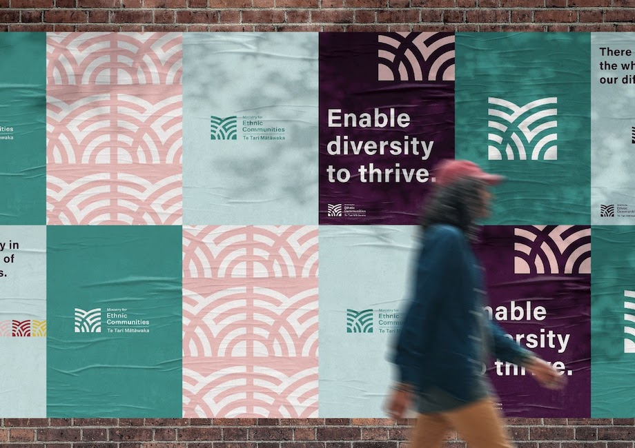 Motion Sickness designs brand for The Ministry for Ethnic Communities