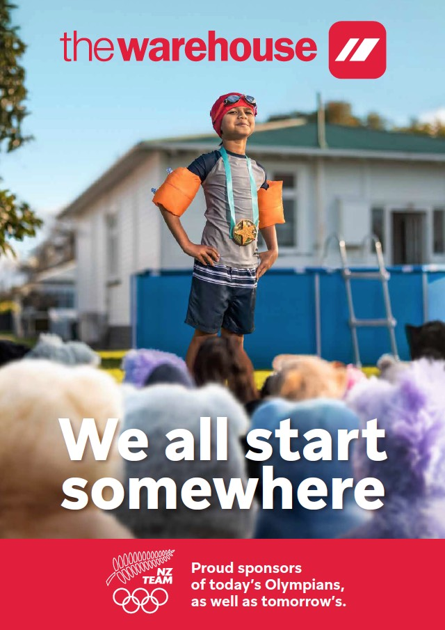 The Warehouse launches new 'Start Here' Tokyo Olympics campaign via TBWA\New Zealand