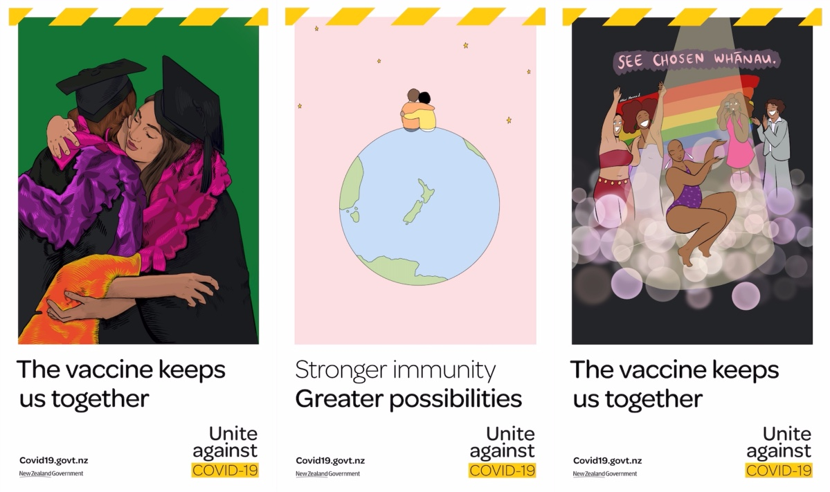 Unite against COVID-19 shows the 'possibilities' getting vaccinated can unlock for us all in new campaign via Clemenger BBDO Wellington