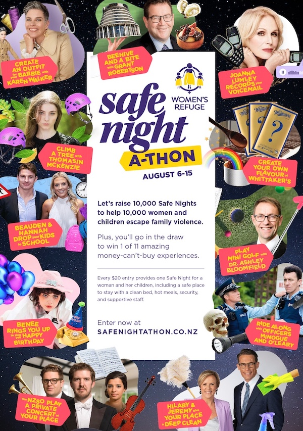 Women's Refuge launches new campaign for its Safe-Night-a-thon via EightyOne